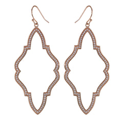 Moroccan Earrings with Simulated Diamonds