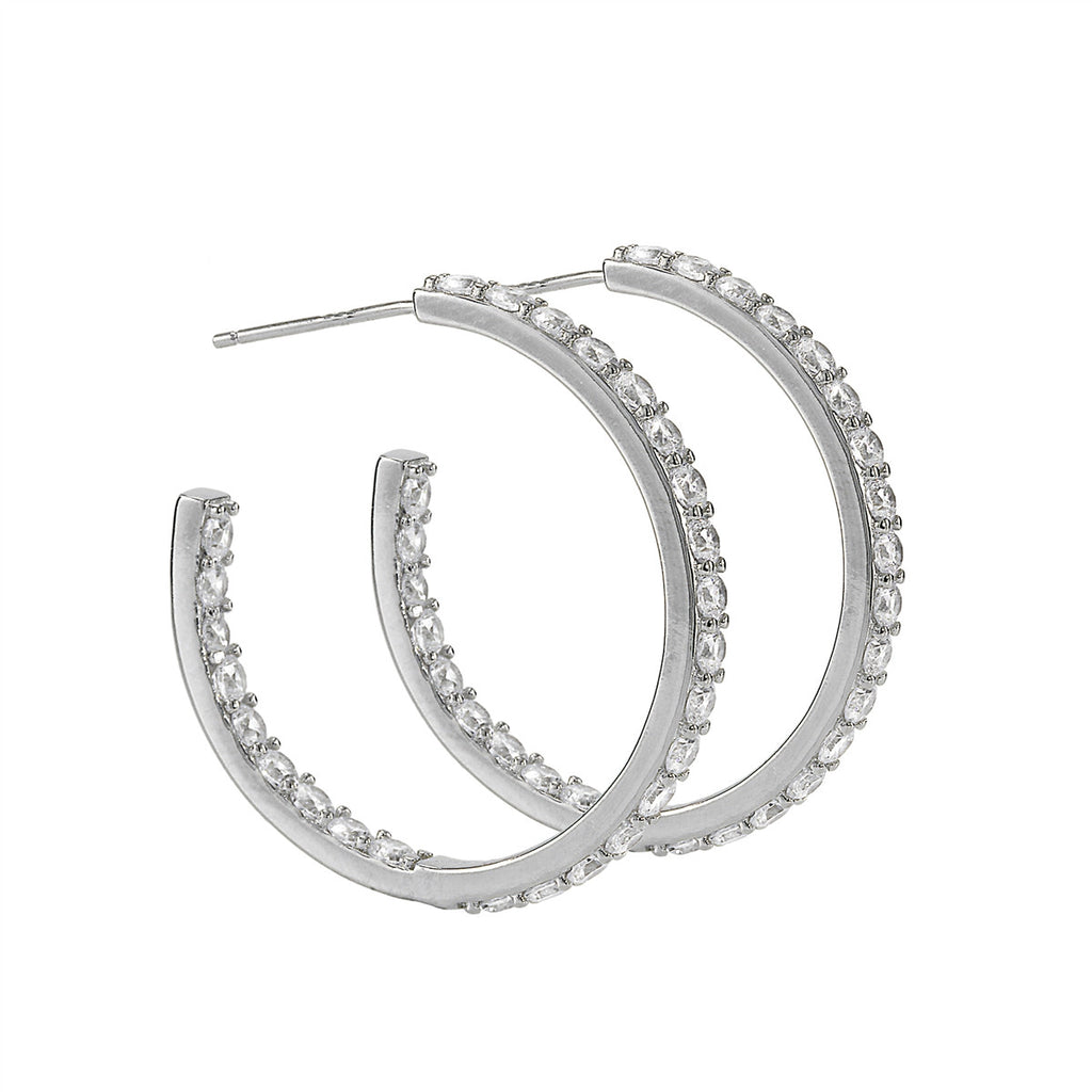 Grace Hoop Earrings (Medium)