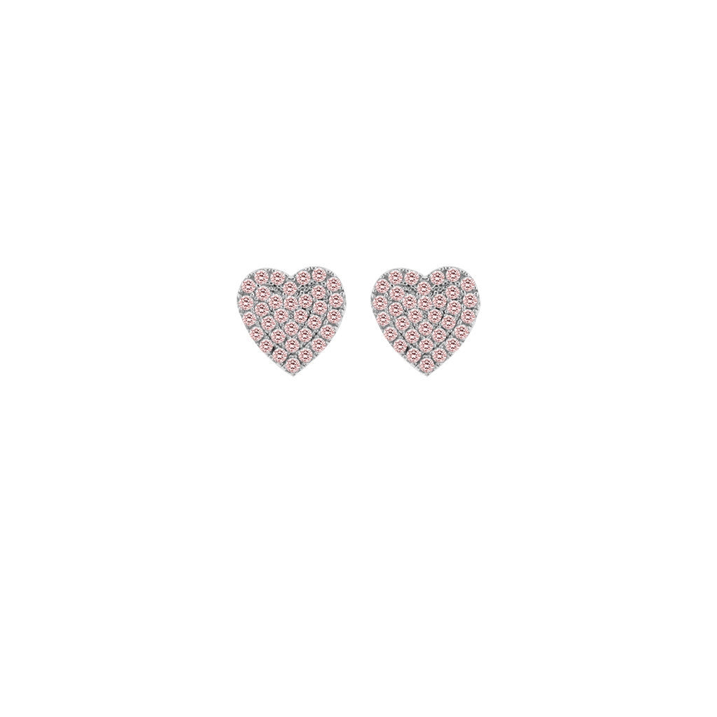 Miss Crislu Pink Heart Earrings