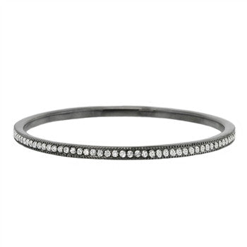 Sterling Silver Cindy Gunmetal Bangle Bracelet