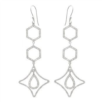 Linked Geometric Earrings