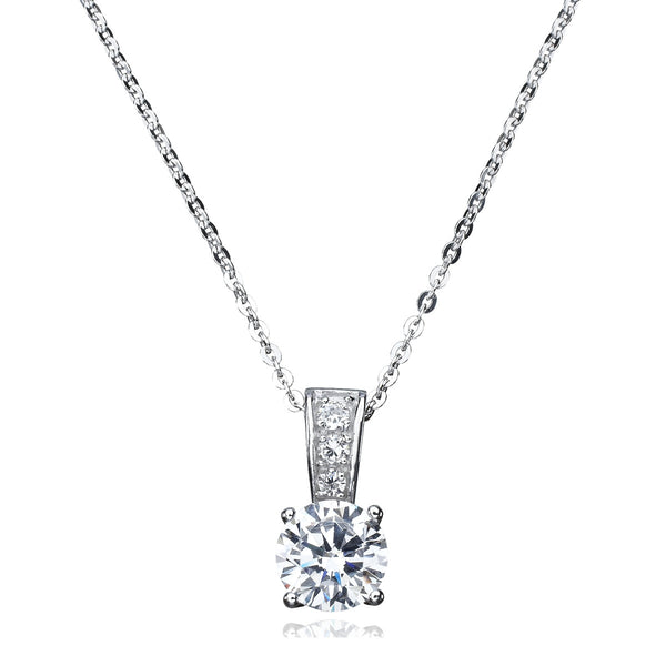 CRISLU Cubic Zirconia Drop Necklace 8.0 cttw