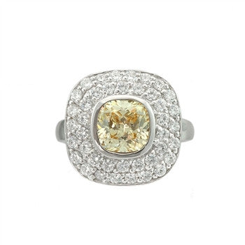 Sheryl Canary Square Ring