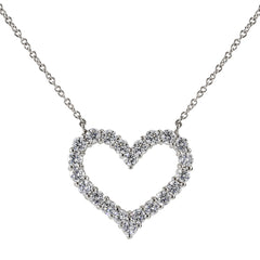 Open Heart Necklace (Large)