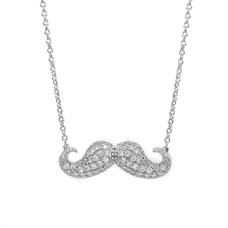 Movember jewelry  hand cut coin pendant Moustache pendant Handlebar Mustache pendant Mustache necklace
