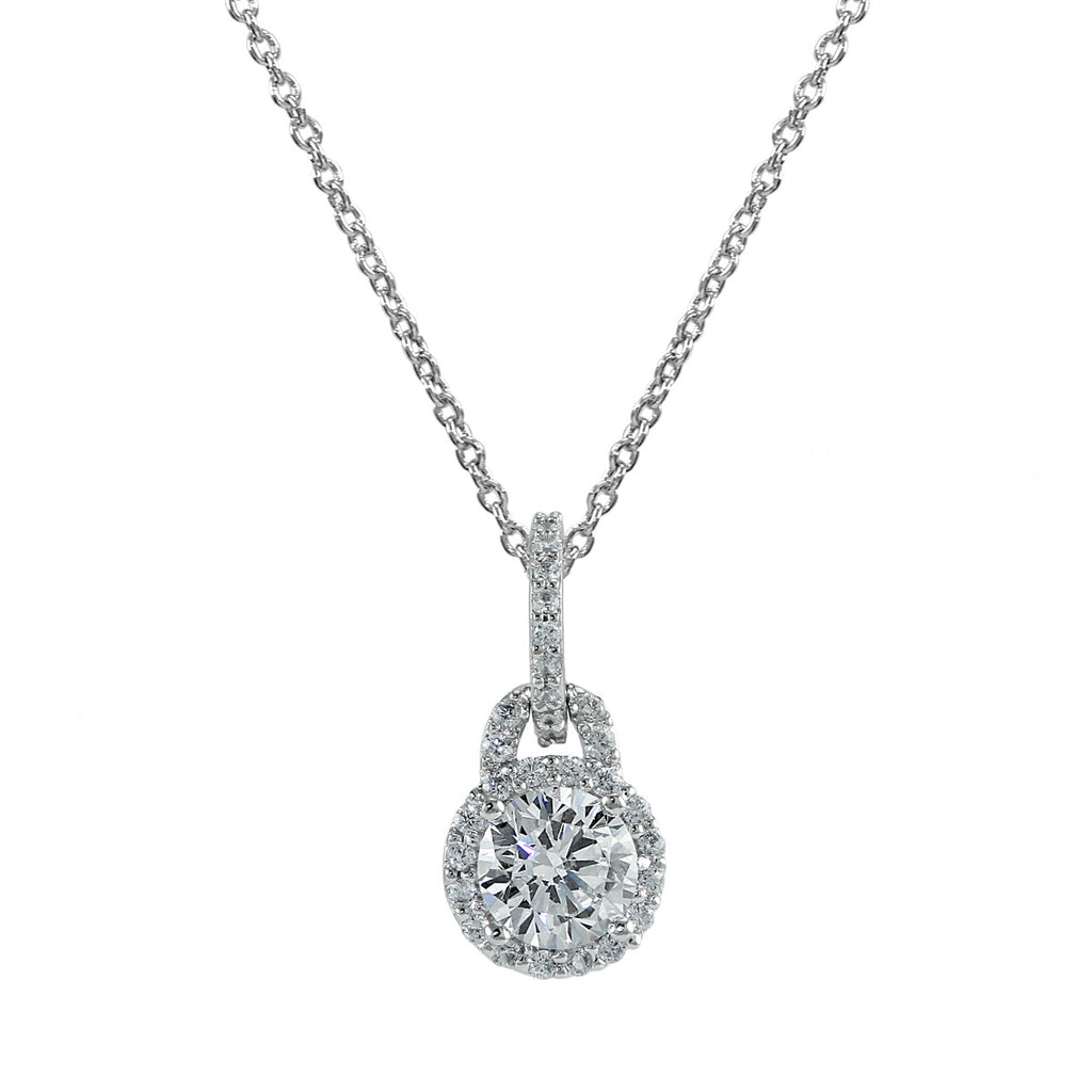 Halo Solitaire Necklace