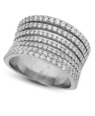 Crislu One-Piece Platinum Ring