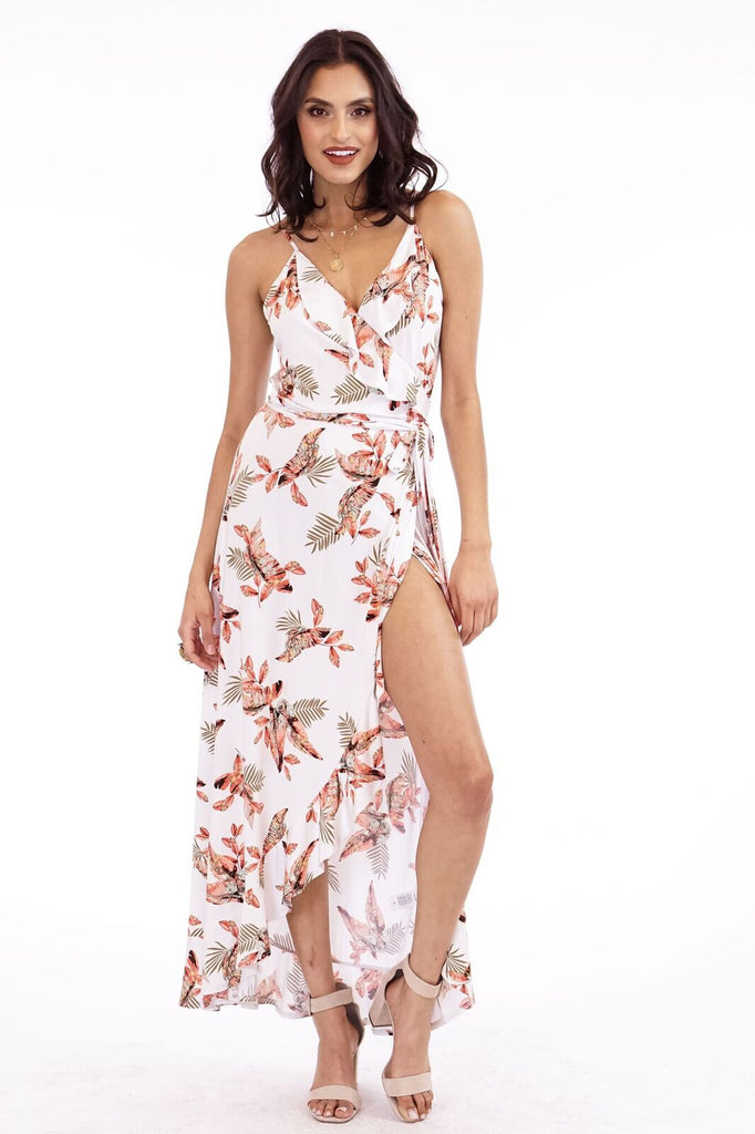 Veronica M. Mrytle Ruffle Maxi Dress