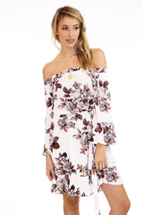 Veronica M. Jonas Off The Shoulder Floral Dress