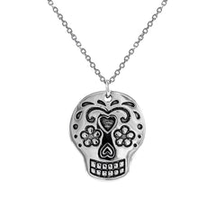 Sugar Skull Necklace at J Grace & Co