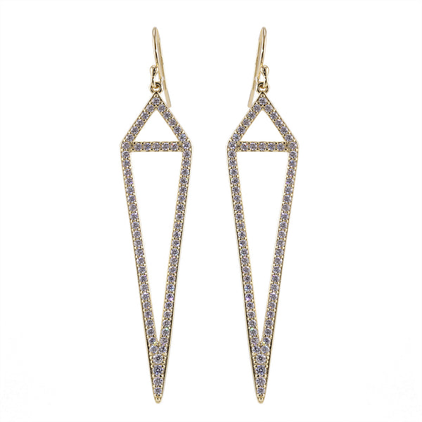 Anna Earrings with Simulated Diamonds