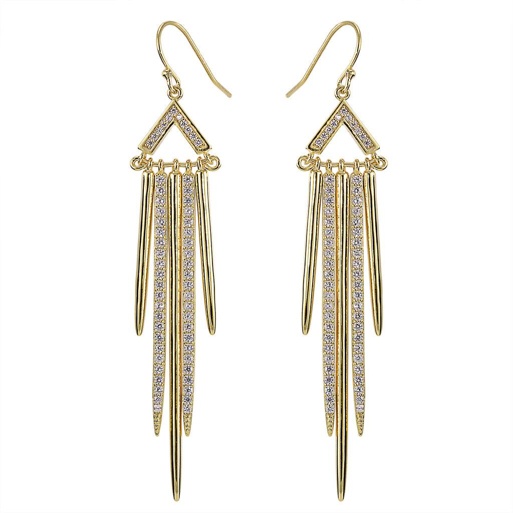 Adona Earring with Simulated Diamonds