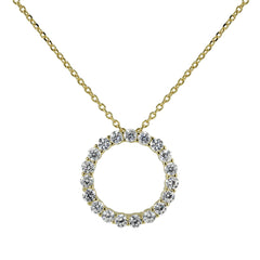 Circle of Life Eternity Necklace Gold