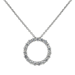 Circle of Life Eternity Necklace Silver