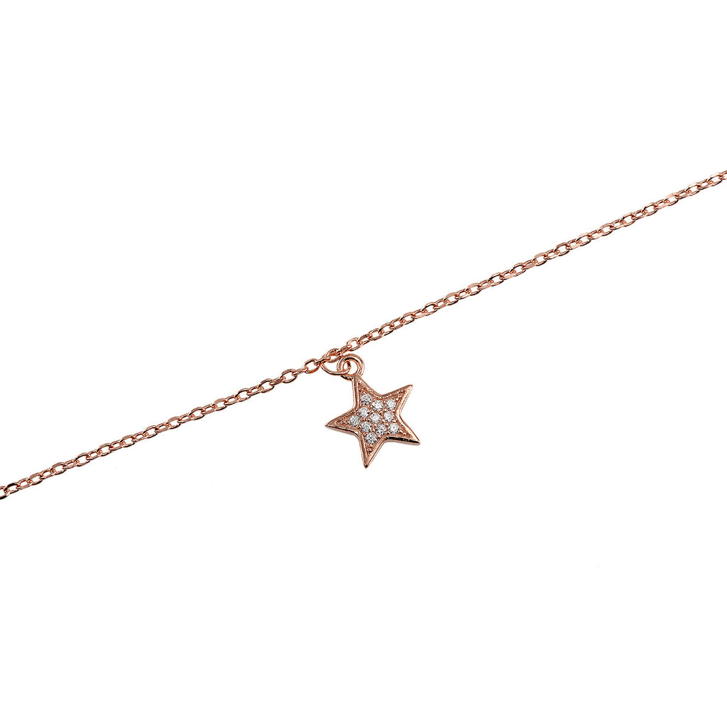 Rose Gold Star Anklet