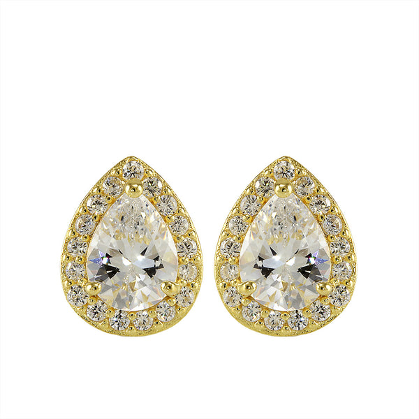 Octavia Teardrop Stud Earring (All Colors)