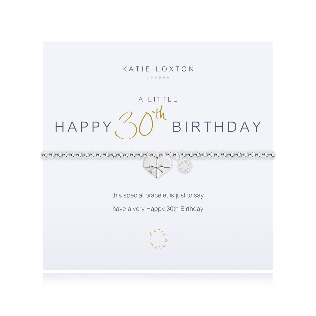 "Katie Loxton ""Happy 30th Birthday"" Bracelet"
