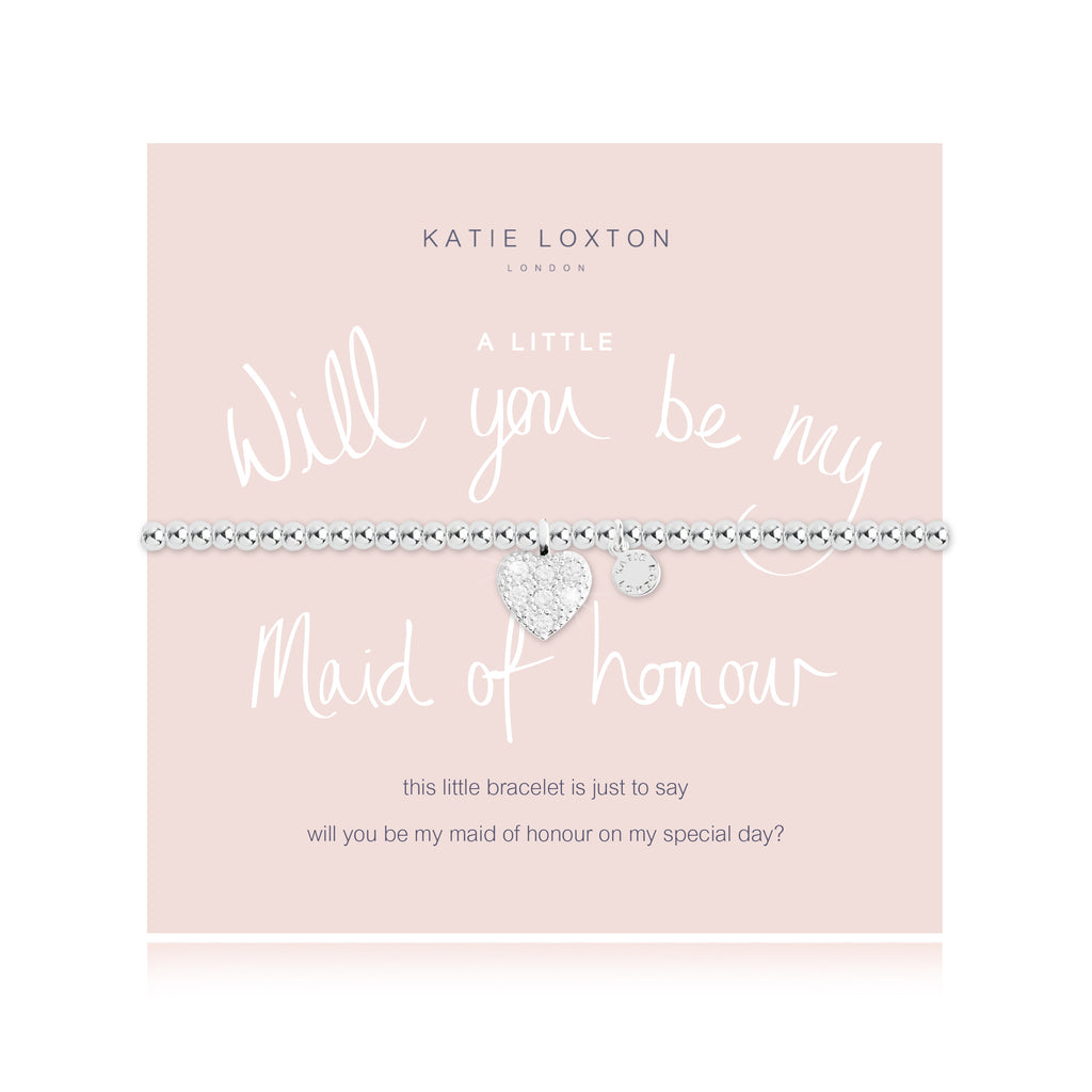 "Katie Loxton ""Will You Be My Maid of Honor"" Bracelet"