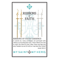 Ribbons of Faith Earrings at J Grace & Co