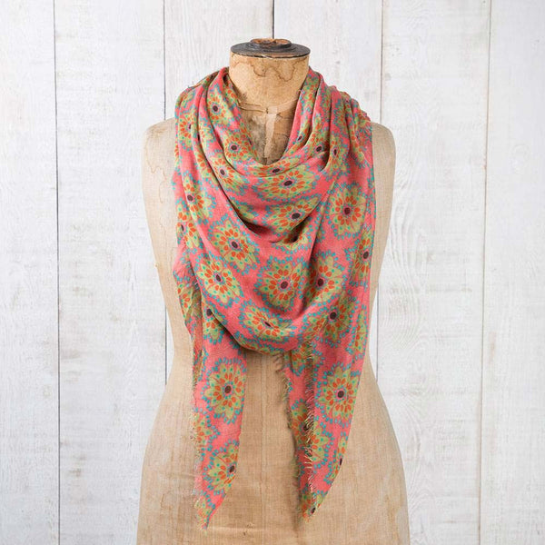 Modal Scarf - Pink Medallion at J Grace & Co
