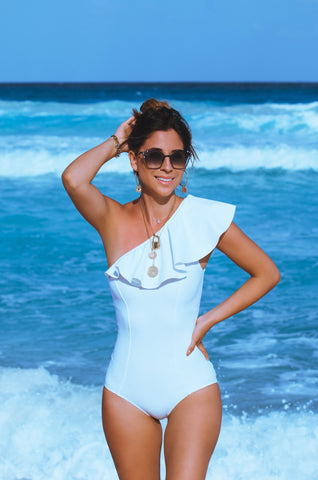 Dubai total white one piece