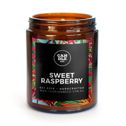 Sweet Raspberry Amber Candle