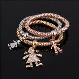 Gold Plated Charm Multilayer Bracelets For Women. Free Shipping!