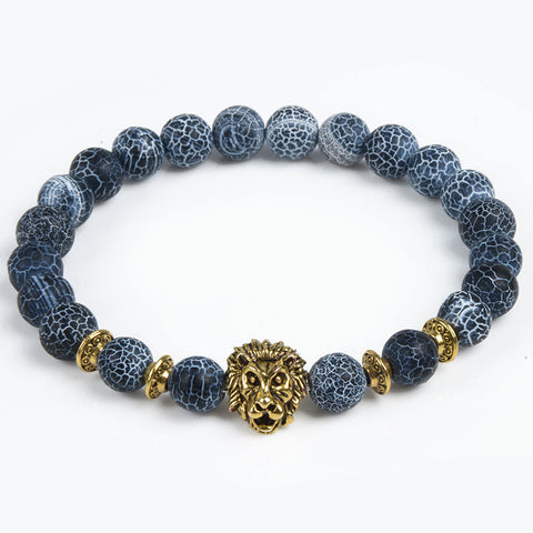 Bracelets: With Natural Stone For Men & Women, Tiger Eye, Lion Head etc. Free Shipping!
