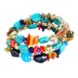 Simulated Gem Crystal Bracelets Multilayer & Various Colors To Choose From. Free Shipping!