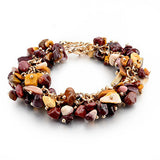 Crystal Charm Bracelets With Stones Gold Plated, Purple, Green, Multicolor, Brown. Free Shipping!