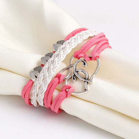 Multilayer Charm Leather Bracelet. Various Colors. Free Shipping!