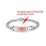 Couple Or Individual Bracelets Stainless Steel, For Women & Men. Free Shipping!