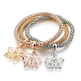 Austrian Rhinestones Gold Color Tree of Life Charm Bracelets. Various Charms. Free Shipping!