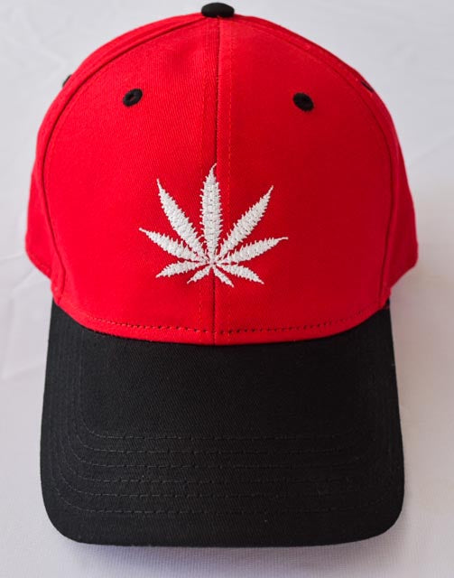 Baseball hat with Classic Official Leaf Cannabis Leaf Embroidered