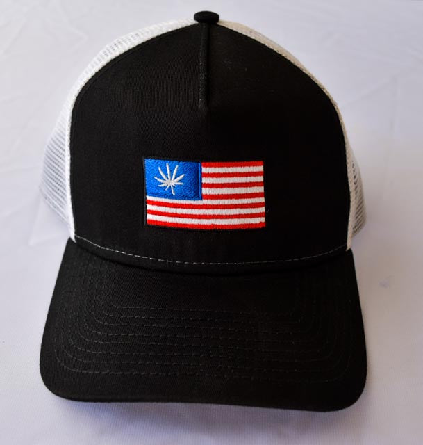 Baseball hat with The United States of Cannabis Flag Embroidered
