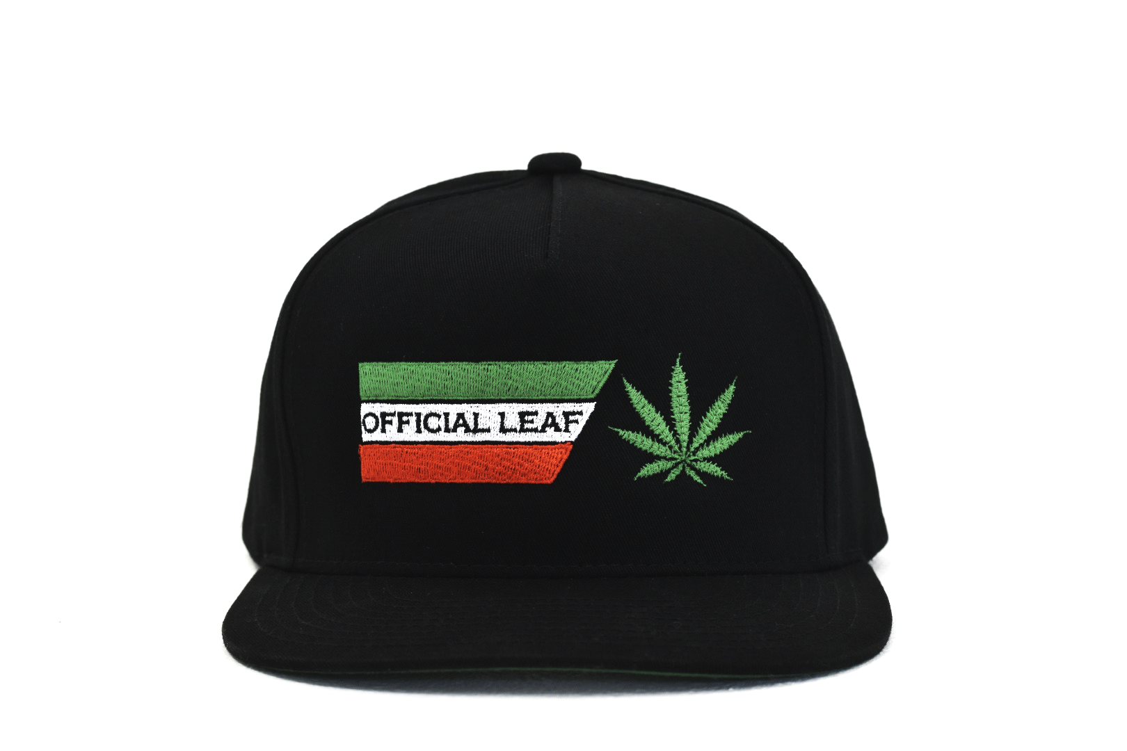 Black Official Leaf Hat Mexico Stripes