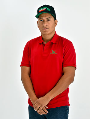 Red Official Leaf Polo