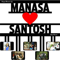 Sosha Personalised Couple Name Photo Frame - Sosha