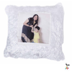 Sosha White Furr LED Cushion - Sosha
