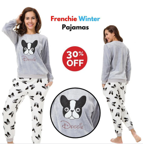 Frenchie Winter Pajamas