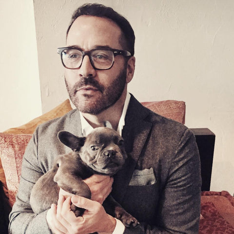 Jeremy Piven and his French Bulldog