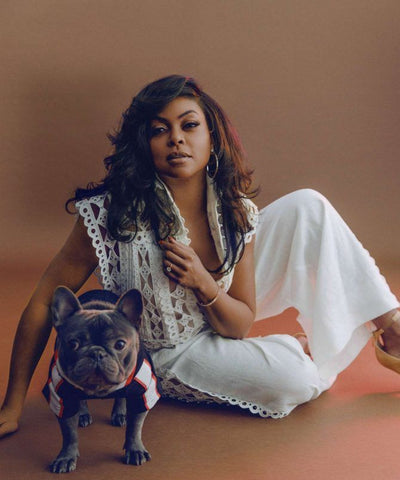 Taraji P. Henson and her French Bulldog