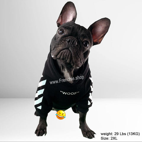 WOOF Hoodie for Frenchies