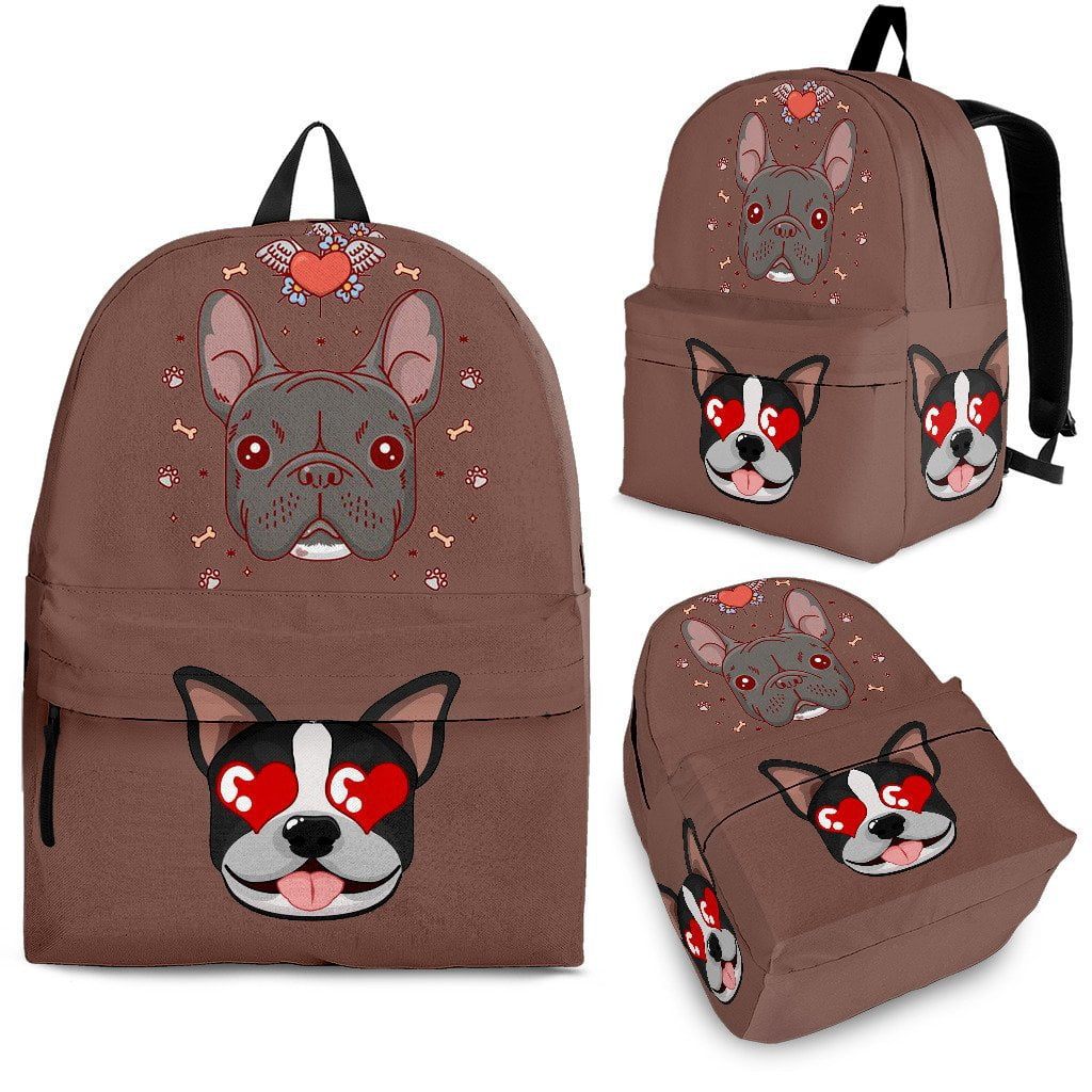 The Frenchie Love - Backpack - Frenchie Bulldog Shop