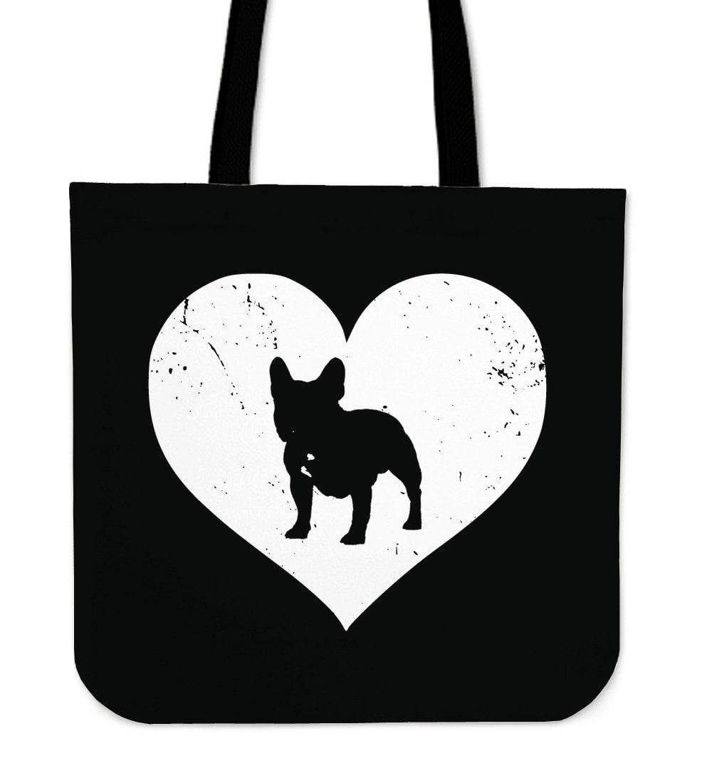 French Bulldog Heart Distressed - frenchie Shop