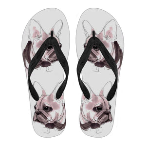 Frenchie Puppy Cute - Flip Flops - frenchie Shop