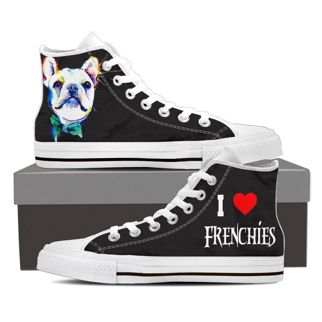 I love frenchies Canvas Shoes