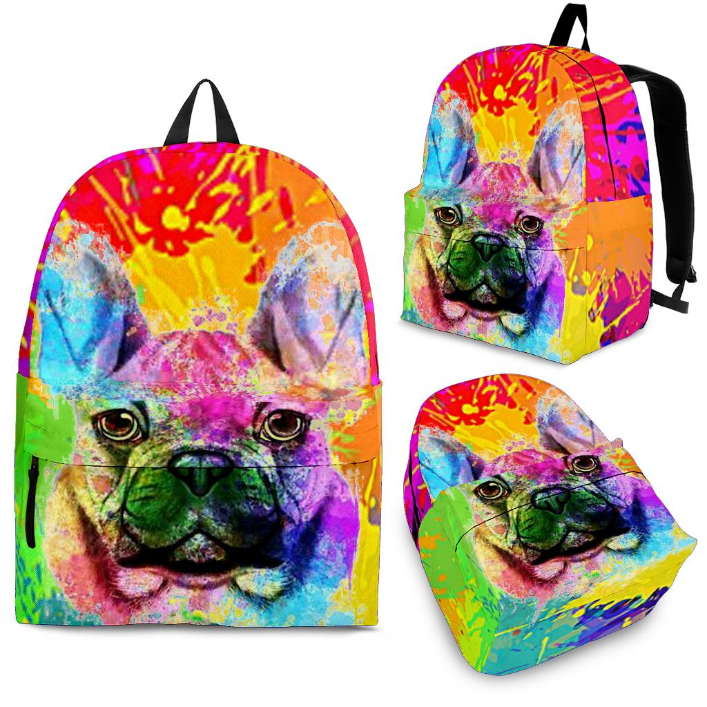 Abstract Frenchie - French Bulldog Backpack - Frenchie Bulldog Shop