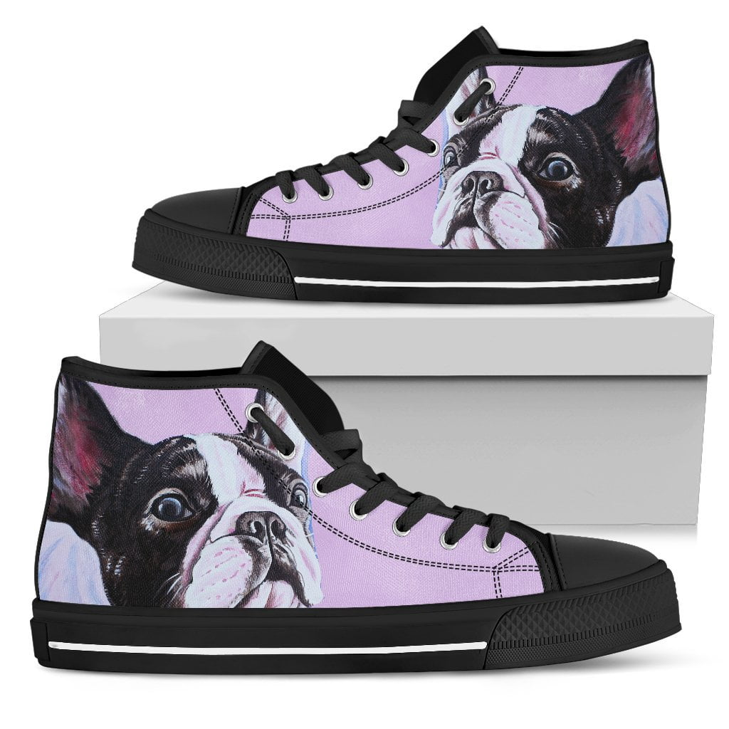 High Top Canvas Shoe - The cute - frenchie Shop