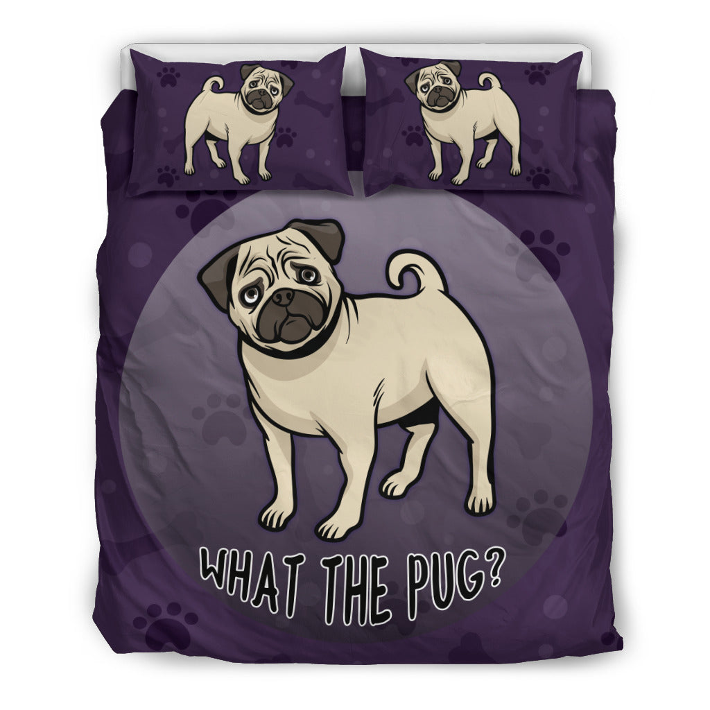 What The Pug Bedding Set - frenchie Shop